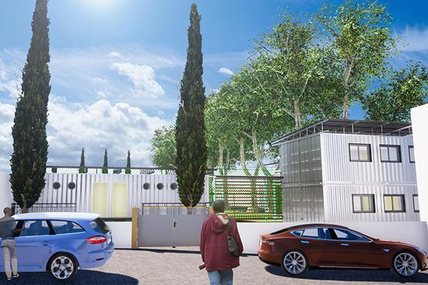 Barla Barla architecte_Pole science_savio_douala_cameroun_architecte_containers