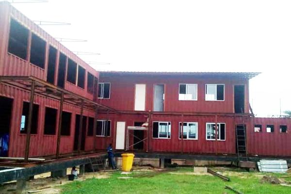 Projet containers cameroun lycée  france Barla architectes